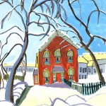 Aurel-Popovici---Red-House-after-Lawren-Harris