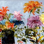 Brenda-Powers-Chrysanthemums-Blue-background