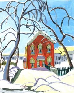 Aurel-Popovici---Red-House-after-Lawren-Harris