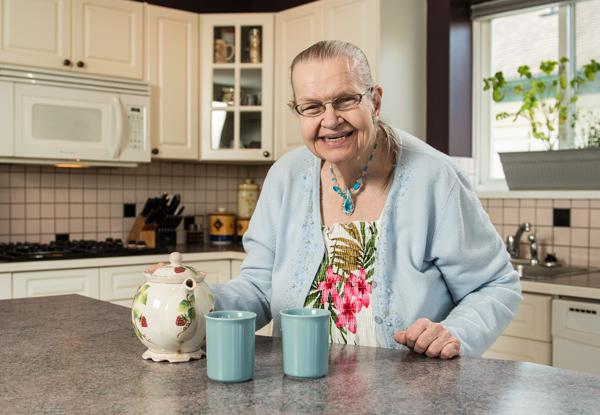 Woman at tea